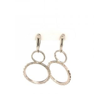 Sterling Circle on Circle Earrings