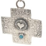 Southwestern Style Sterling Silver and Turquoise Cross