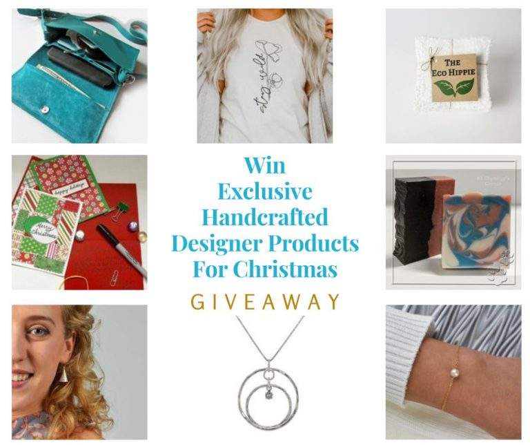 Handcrafted Designer Products for Christmas Giveaway