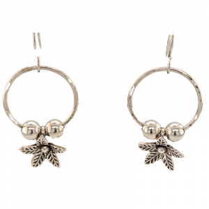 sterling-hoop-and-flower-earrings/