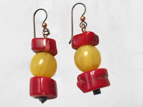 coral-and-amber-earrings