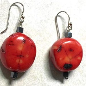 more-red-coral-earrings