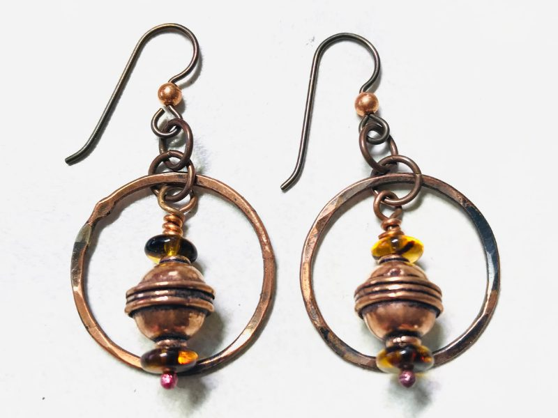 copper-and-amber-earrings