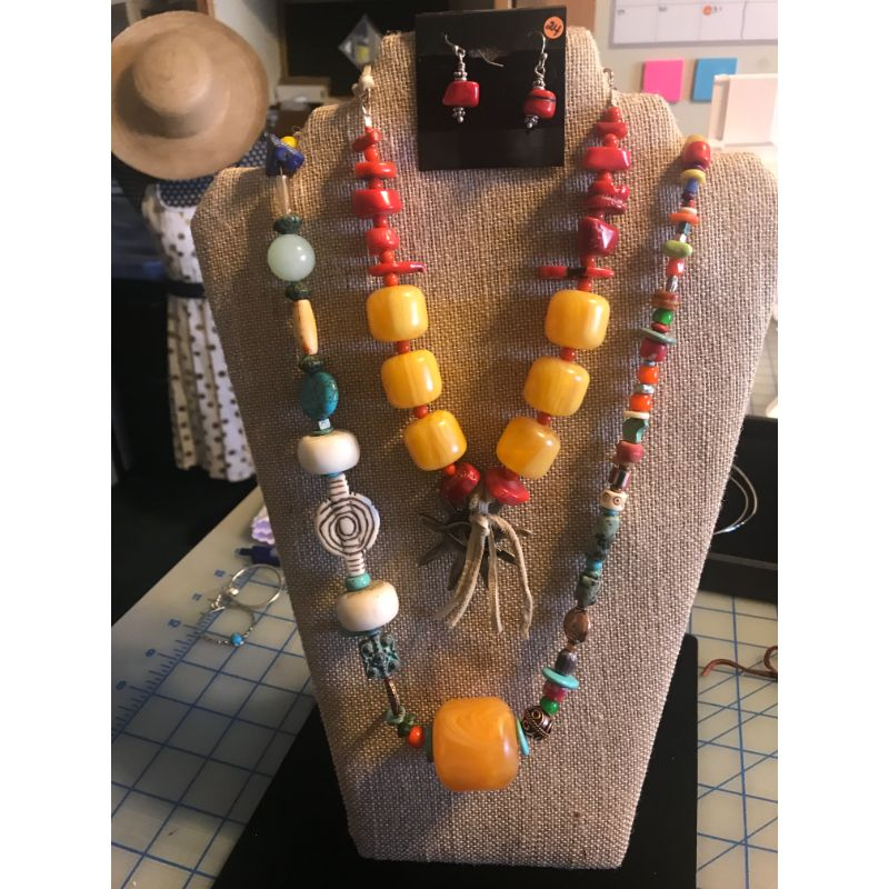 copal-beads-red-coral-beads-deer-skin-leather